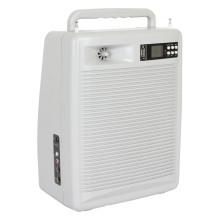 Amplificador portátil con dos micrófonos inalámbricos de mano, SD, USB y casete