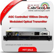 Transmisor de láser óptico de modulación directa de 1550nm de módulo único CATV de alto rendimiento