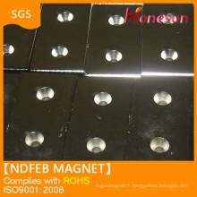 USD38 100x50x40 two hole N35 N42 N50 ndfeb magnet
