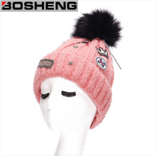Hot Mulheres Outono Inverno Crochet Knit Cap Warm Beanie Hat