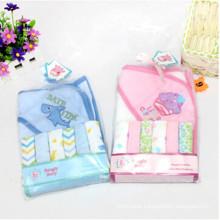 Baby Bath Towel+6 PCS Small Square Handerchief