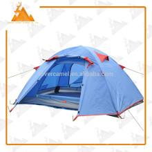 200 * 130 * 110cm dupla camada 2 pessoa exterior caminhada Camping barraca