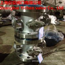 Robinet à tournant sphérique d'isolation de robinet à tournant sphérique d'acier inoxydable de veste de vapeur