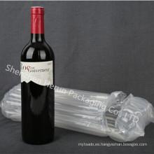 Embalaje de la botella con muestras gratis de bolsas de aire ofrecen