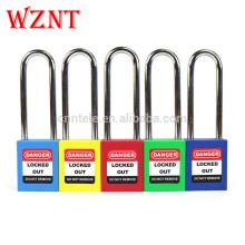 Cadenas de verrouillage de sécurité industrielle à manille en acier chromé rouge de 76 mm