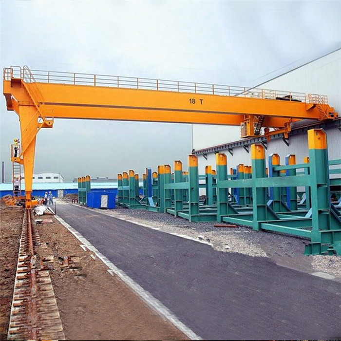 Semi gantry double girder crane