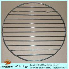 Le support de staining d'articles de cuisine ronds qui respecte l'environnement dresse des grilles robustes de vapeur d'acier inoxydable de wok de fil d'acier