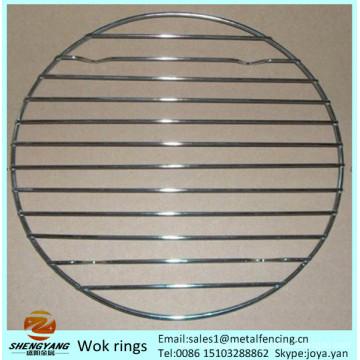 Umweltfreundliche Round Cooking Ware Steaning Rack steht Edelstahl robuste Steamer Racks Stahldraht Wok Ringe