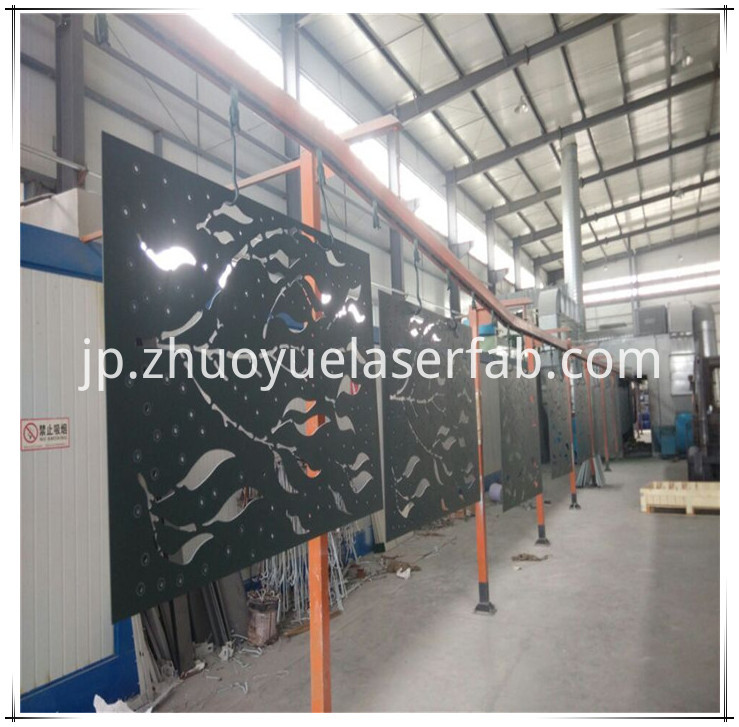 metal screen with powder coating