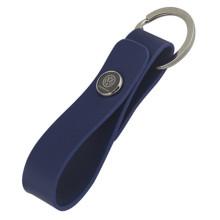 Porte-clés en cuir métallisé en métal personnalisé avec logo de voiture (F3050B)