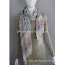 100%Polyester stripe dots printed China factory long scarf shawl