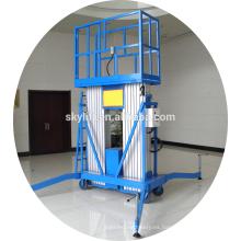 Elevador de luz de calle eléctrico móvil de doble escalera de aluminio
