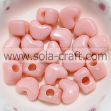 8*9*11.5MM Solid Mixed Colors Earring Heart Charm Beads Pattern