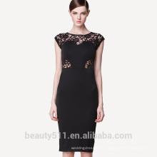 Горячая распродажа летом женская европейской и американской выдолбленные кружева платья с короткими рукавами и узкой юбкой-карандаш PS01