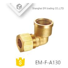 EM-F-A123 90 Grad rechtwinklige Kupplung Messing schnell Innengewinde Rohrverbinder