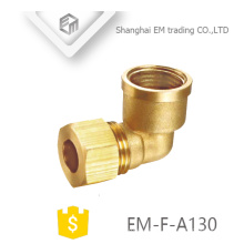 EM-F-A123 90 degree right angle coupling brass quick female thread pipe connector