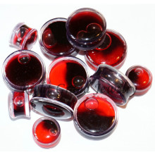 Custom Design Halloween Red Liquid Fake Blood Ear Plugs Jewelry