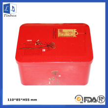 Rectangular Gift Tin Box Of Tea Sets