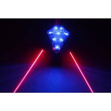 Wiederaufladbare Laser-Rückleuchte mit weißer LED