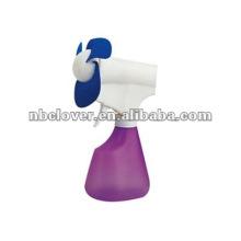 Plastic water bottle spray fan