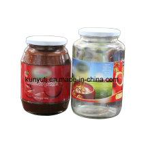 Frasco de vidro de tomate com alta qualidade