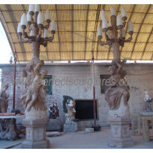 Escultura de mármol estatua tallada piedra escultura de jardín de talla para la decoración (SY-X1195)