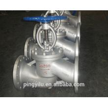 Válvula de globo de ángulo válvula de globo de agua válvula manual de acero inoxidable fundido válvula de globo de acero PN 16-100 fabricante