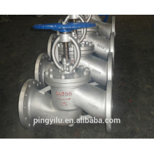 Clapet à clapet à angle muni d'un clapet d'eau muni d'une vanne à air en acier inoxydable motorisé en acier inoxydable PN 16-1