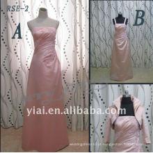 RSE-2 Fabricantes diretos 2011 novas senhoras elegantes tiras selecionáveis com jaqueta de cetim de seda real do vestido da noiva