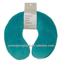 promotional u-shape memory foam pillow travel neck pillow