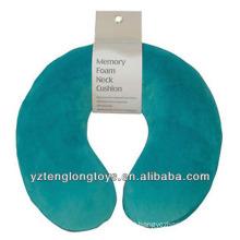 Promocional u-forma de memória espuma almofada travesseiro travesseiro de viagem