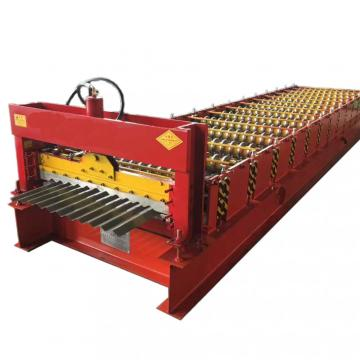Colored Steel Corrugated Panel Roll Forming Machine