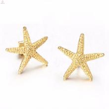 Atacado moda colar de ouro estrela brincos anel pulseira jóias