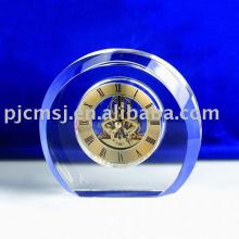2015 Reloj de mesa de cristal liso y redondo waterford reloj de cristal K9 cristal horologe