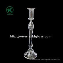 Bougeoir en verre pour table avec poste unique (DIA 9.5 * 34)