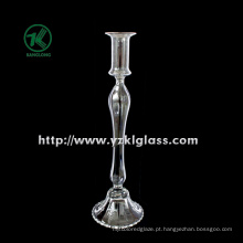 Suporte de vela de vidro para artigos de mesa com único post (DIA 9,5 * 34)