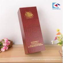 Fournisseurs chinois personnalisés boîte de vin en carton de luxe papier spécial avec aimant