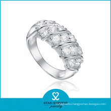 Charming Rhodium Plating 925 Sterling Silver Ring for Discount (R-0193)