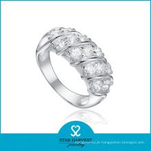 Anel de jóias de prata exclusivo 925 exagerando em estoque (R-0193)