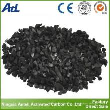 cáscara de coco granulado carbón activado 6x12 para extracción de oro Yodo 1100