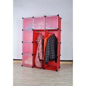 Red Wardrobe Plastic Storage Organizer, Home Storage Products