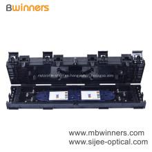 Caja de juntas de cierre de empalme de fibra óptica impermeable en línea 24 fibras