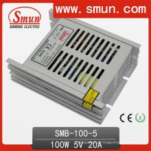 100W 5V / 12V / 24V / 48V fonte de alimentação de comutação de saída única ultra fina