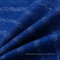Blue Cotton Viscose Polyester Spandex Denim Fabric for Jeans