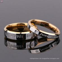 Benutzerdefinierte Schmuck für immer Liebe Edelstahl Paar Finger Ring