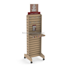 Quality Free Standing Retail Store Advertising Movable Plywood Slatwall Leggings Slatwall Shoe Display