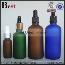 Botellas de aceite esmerilado de 30/50/100 ml; botellas de aceites esenciales de colores; botella de vidrio de aceite rellenable en Dubai