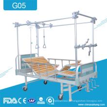 G05 4 cama de tração lombar ortopédica de aço das manivelas
