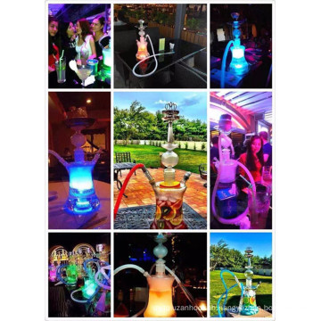 Super Cheap Glass Hookah with Pink Red Purple LED