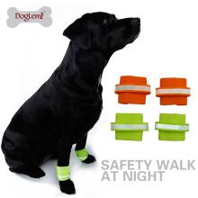 En gros doux reflétant nylon bracelet pour animaux de compagnie sécurité chien bracelet